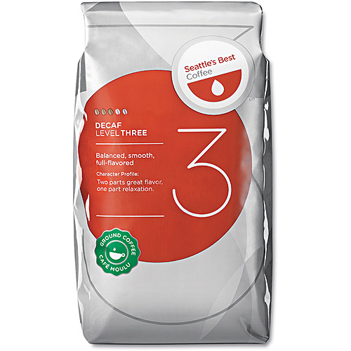 Seattle's Best Level 3 Decaf Ground Coffee Packs, 2 oz, 18 count
