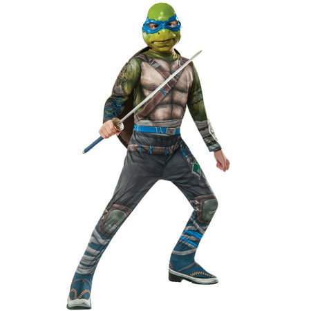 TMNT 2 Leonardo Child Costume - Kids Teenage Mutant Ninja Turtle Costume