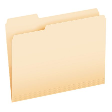 Cut File Folder Letter - Pendaflex 1/3 Cut File Folders, Letter Size, Manila, Letter Size, 100 per Box