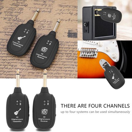 Wireless Audio Transmission Set with Receiver Transmitter for Electric Guitar Bass Violin, Guitar Transmission, Guitar Transmitter