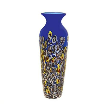 GHP Hand-Crafted Summertide Art Glass Vase Ecorative Wedding Centerpiece