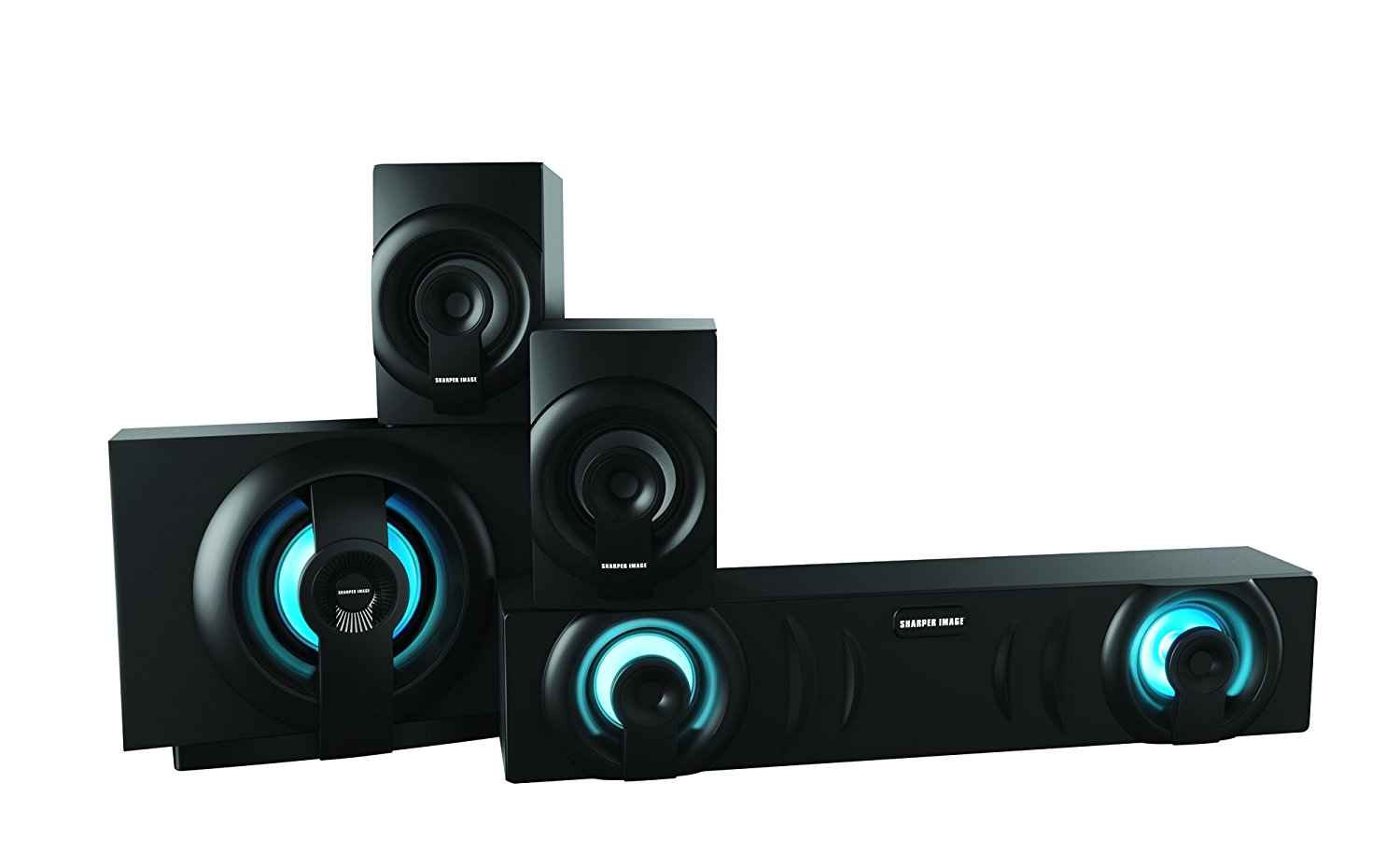 Sharper IMage SBT3009BK Home Theater In a Box 3.1 Sound System With Subwoofer, Bluetooth Streaming From Any... by Sharper Image