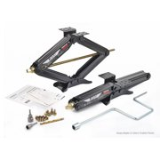 Set 2 LIBRA Premium 5000lbs RV Trailer Stabilizer Leveling Scissor Jacks w/Dual Power Drill sockets & mounting Hardware Set