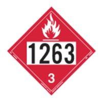 LABELMASTER 35ZL81 Flam Liquid Placard,10-3/4inx10-3/4in G1861819