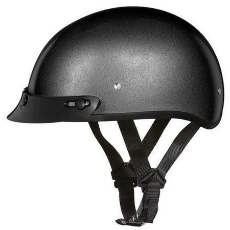 094dc5a7635 Daytona Helmets Slim Line Skull Cap D.O.T. Approved Half Shell Motorcycle  Helmet With Visor - Walmart.com