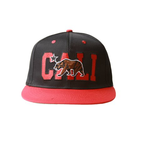Cali Bear Flatbill Snapback Hat + GT Sweat Wristband](Ring Bear Suits)