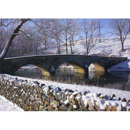 Canvas Print Burnside Bridge Antietam Landmark Maryland Stretched Canvas 10 x