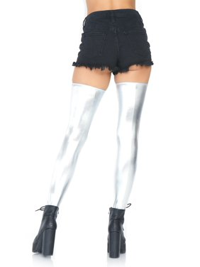 5c110dec621 Free shipping. Product Image Leg Avenue Women s Wet Look Thigh Highs