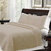 lamont home majestic matelasse coverlet - twin - taupe