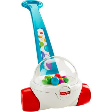 Fisher-Price Classic Corn Popper Walk & Push Toy, Blue