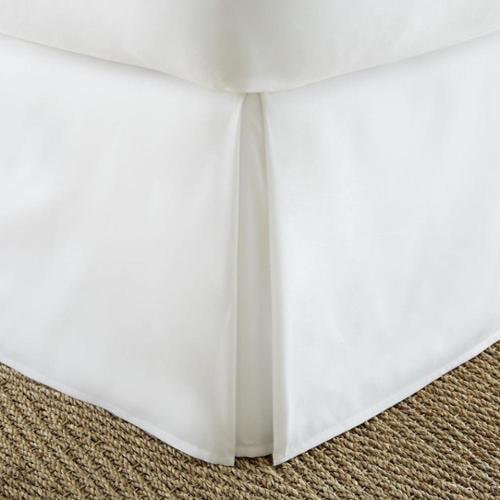 Soft Essentials Premium Pleated Bedskirt Dust Ruffle California King - White