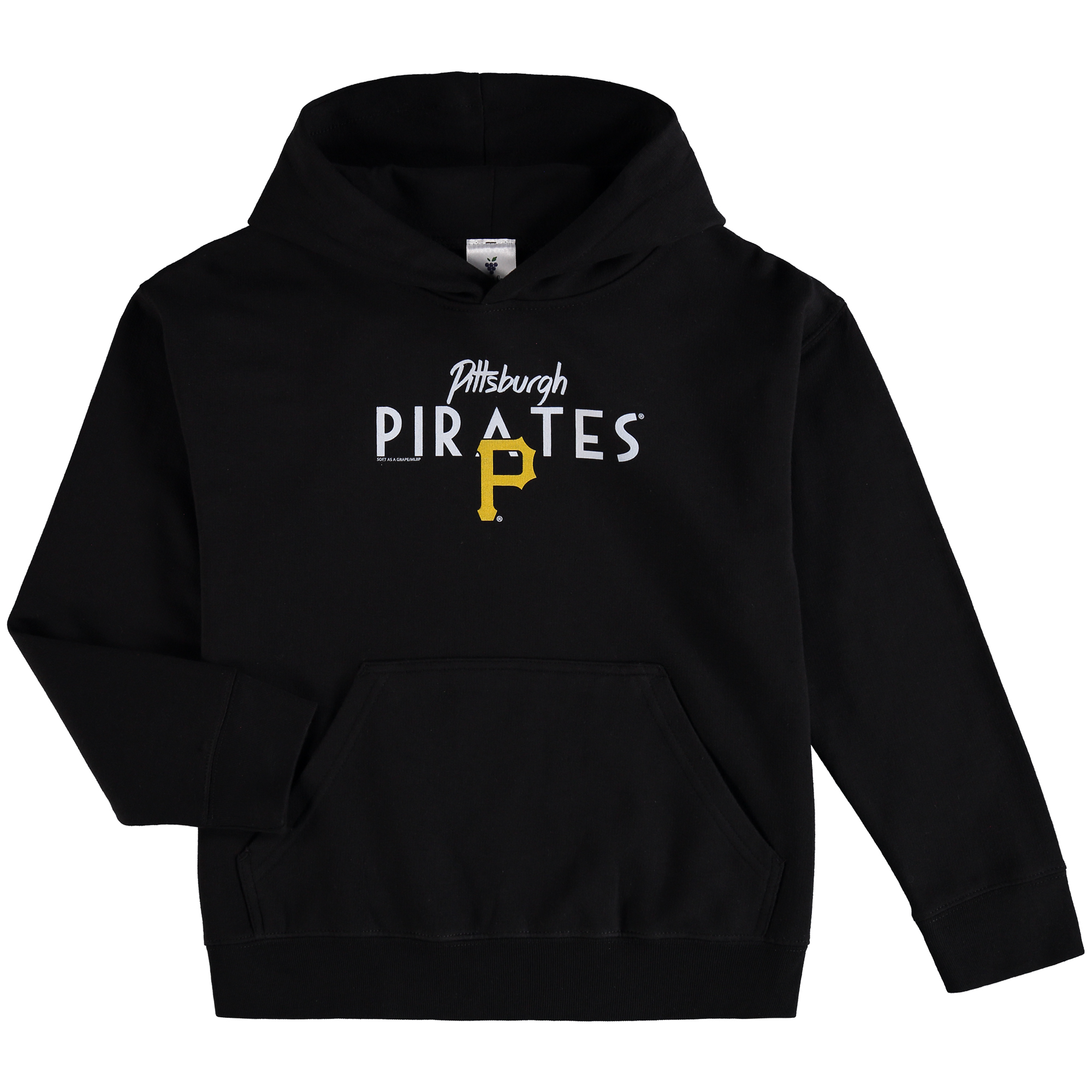 Pittsburgh Pirates Soft as a Grape Youth Around the Horn Hoodie - Black