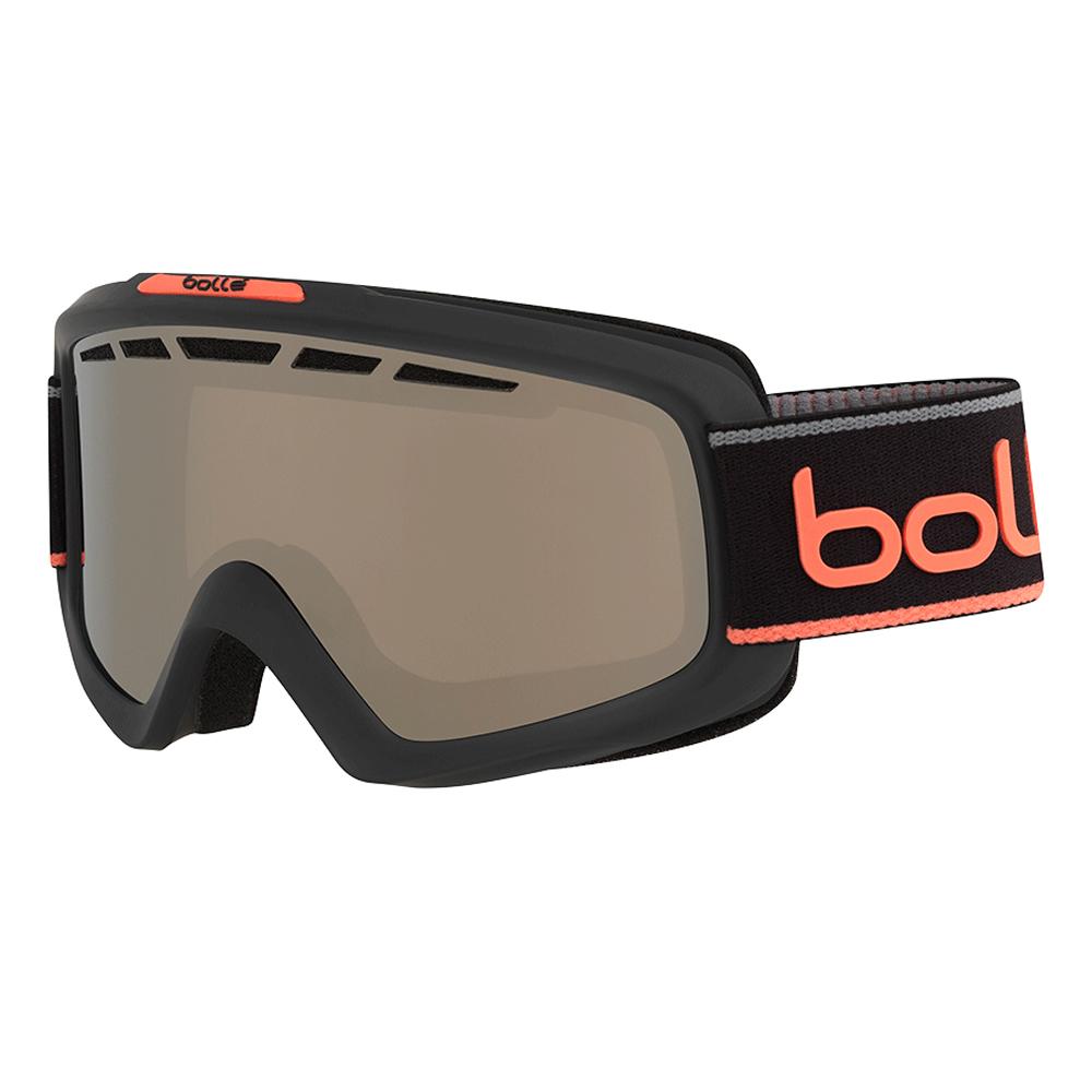 Bolle Winter Nova II Matte Grey & Neon Orange Neon Blk Chrome 21684 Ski Goggles by Bolle