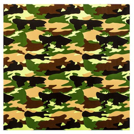 Green and Brown Camouflage Gift Wrap Craft Supplies - Camouflage Wrapping Paper