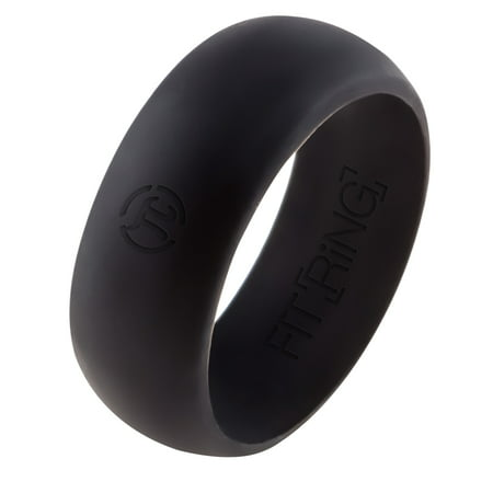 Mens Amber Ring (Silicone Wedding Ring | Silicone Band for Men by Fit Ring Safe Rubber Silicone Band )