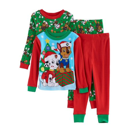 00b07dba5 PAW Patrol - Paw Patrol Toddler Boys 4-Piece Christmas Holiday ...