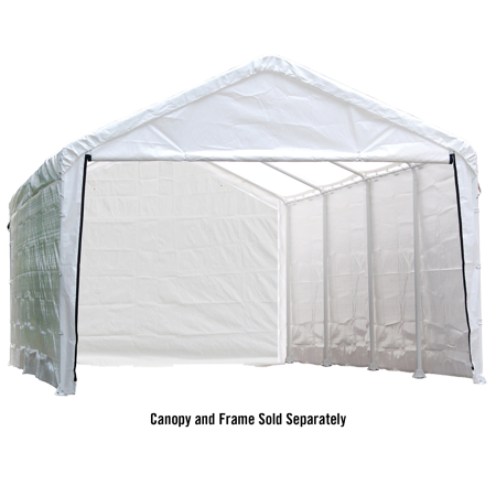 Shelterlogic Super Max 12' x 30' White Canopy Enclosure Kit Fits 2