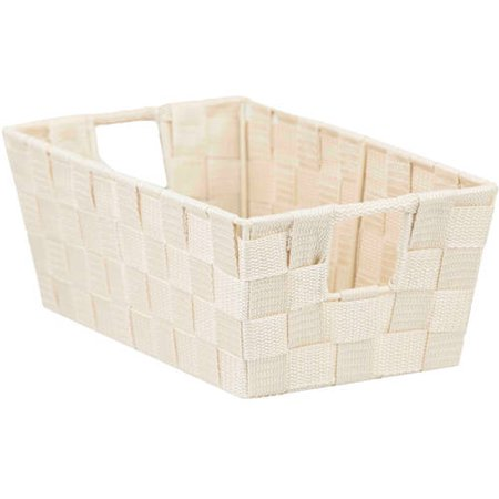HDS Trading Generic Non-Woven Strap Bin, Ivory, Small