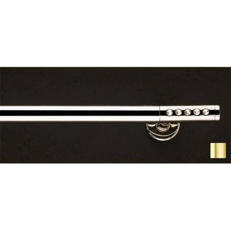 Vesta 1148 Curtain Rod Set -.75 in. - Matte Brass - 48 in. - image 1 de 1