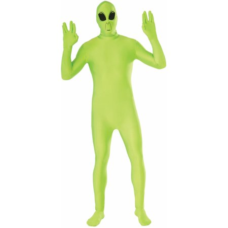 Adult's Radioactive Alien Disappearing Man Full Body Jumpsuit Costume - Radioactive Costume