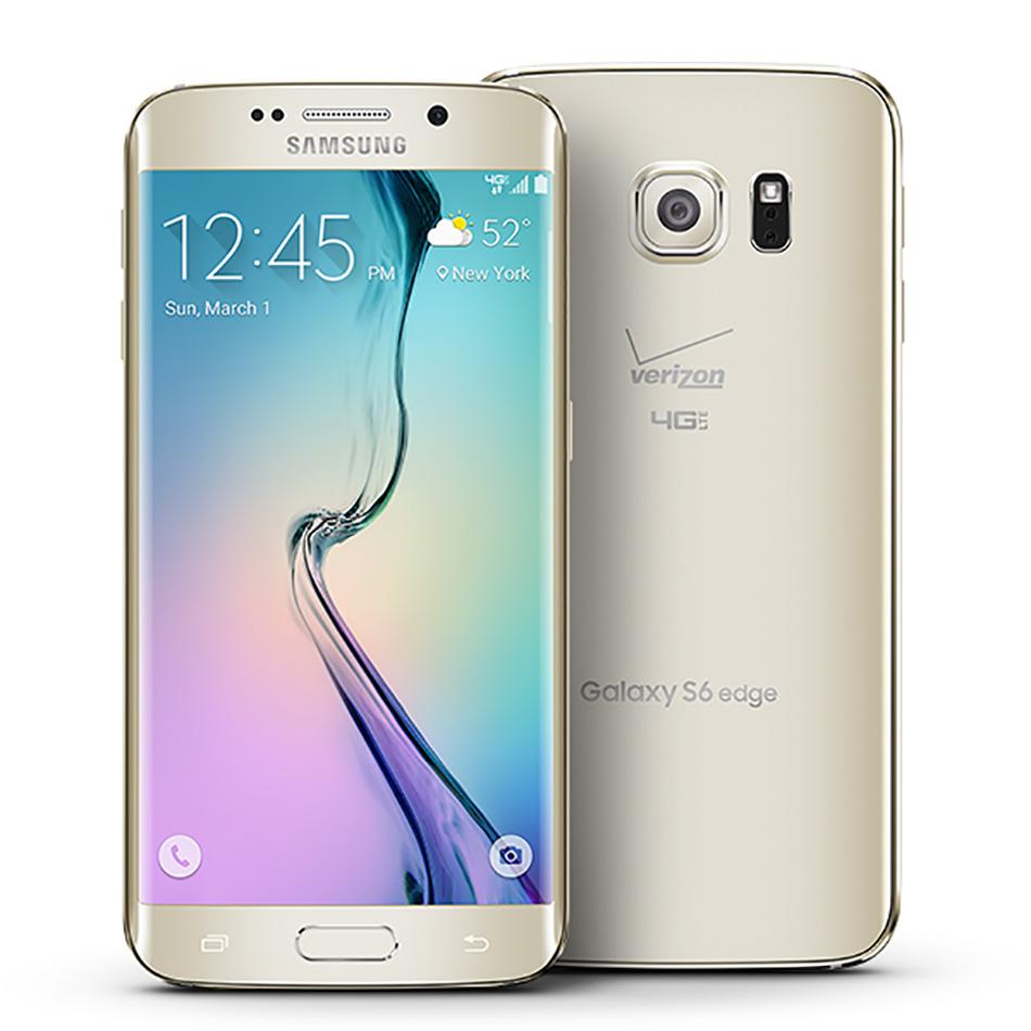 "Samsung Galaxy S6 edge - Smartphone - 4G LTE - 32 GB - CDMA / GSM - 5.1"" - 2560 x 1440 pixels (577 ppi) - Super AMOLED - RAM 3 GB - 16 MP (5 MP front camera) - Android - Verizon - white pearl"