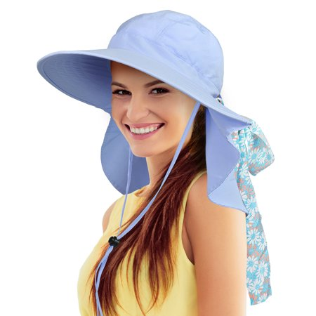 64d621883 Sun Hat for Women Large Neck Flap Hat with UPF 50+ Sun Protection for  Outings, Beach, Hiking, Travel by Sun Blocker