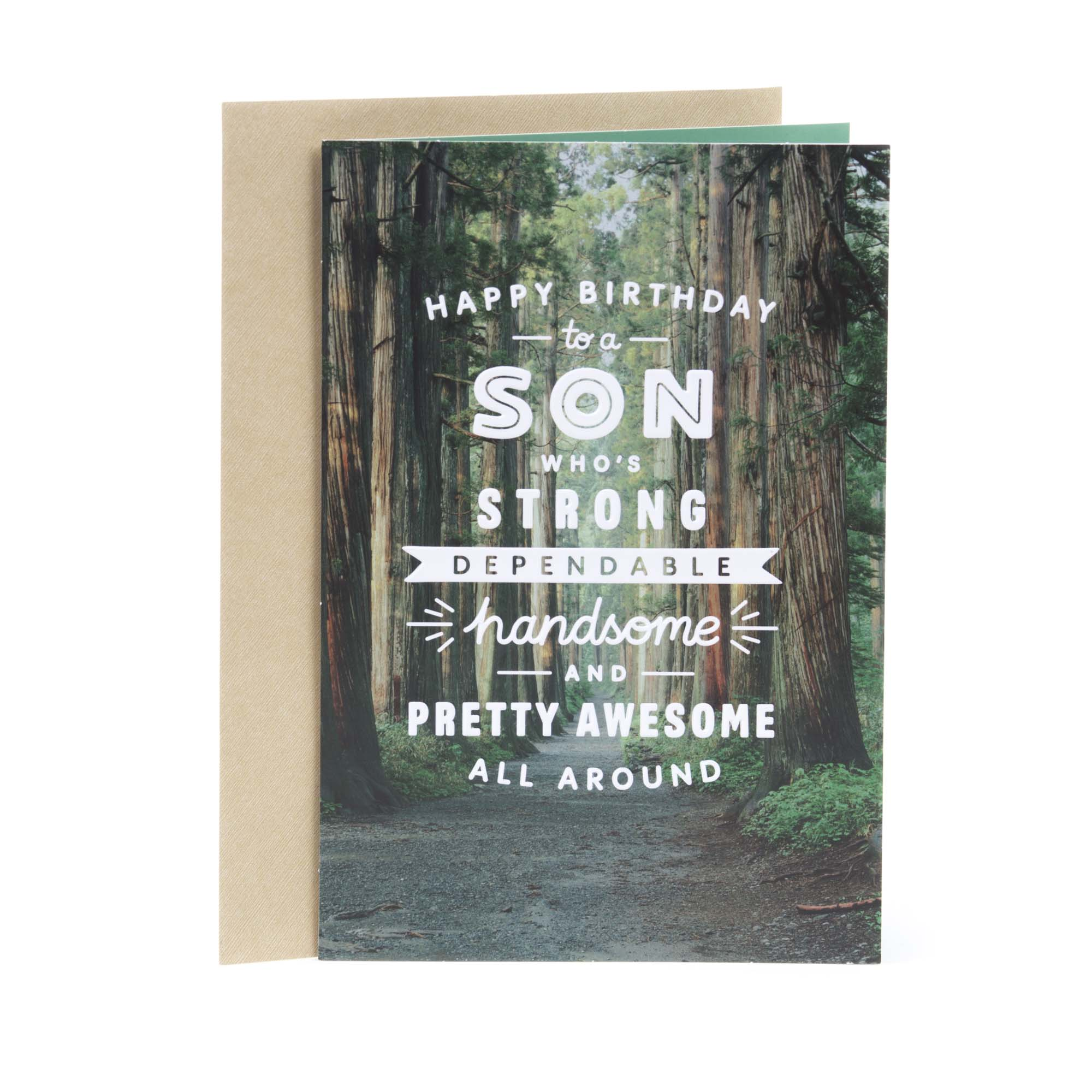 Hallmark, Woodland Trail, Birthday Greeting Card, for Son