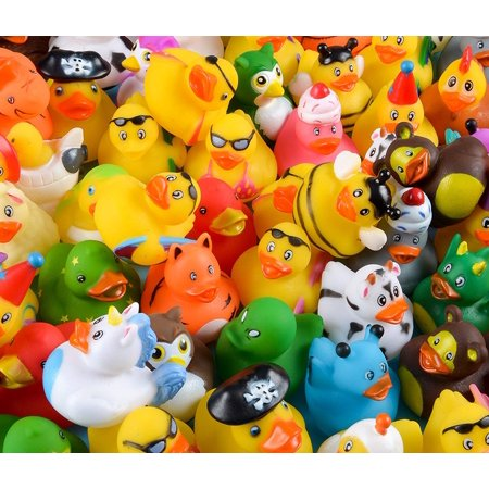 Assorted Rubber Duckies - 100 Count Bag](Christmas Rubber Duckies)