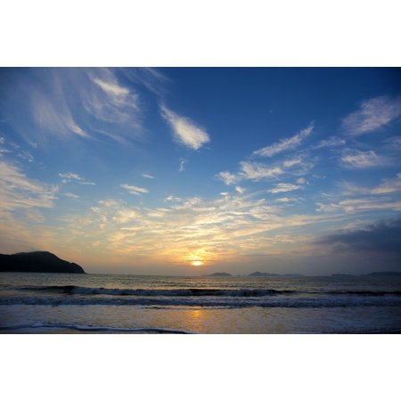 - Framed Art for Your Wall Sheung Shui Beach Scene Sunrise The Scenery 10x13 Frame