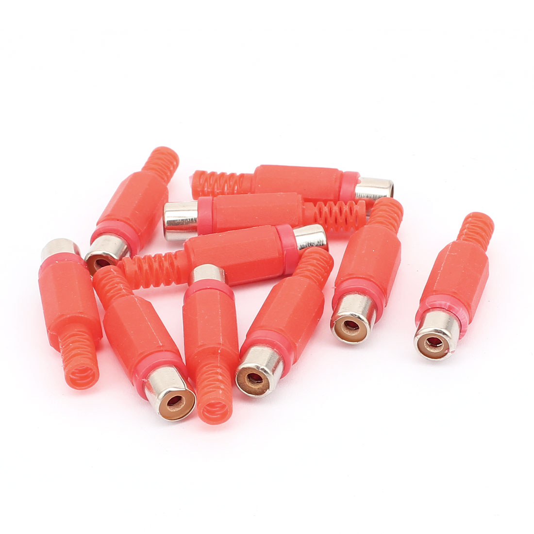 10PCS Red RCA Female Jack Audio Video Adapter Converter Connector
