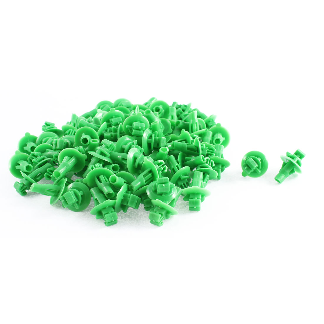 Unique Bargains 80 Pcs Green Plastic Splash Defender Interior Fastener Mat Clips for