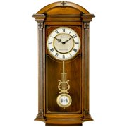 Bulova Hartwick Solid Wood Wall Clock - 14W x 30H in.