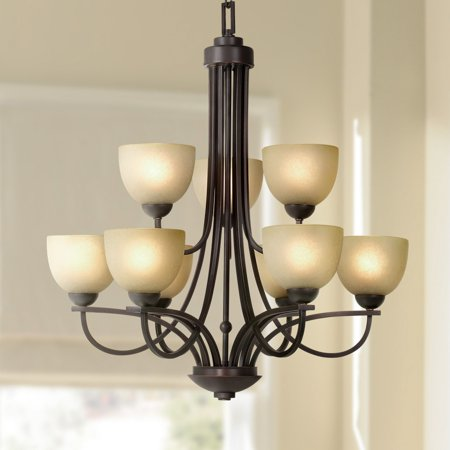 - Franklin Iron Works Bennington Collection 9-Light Chandelier