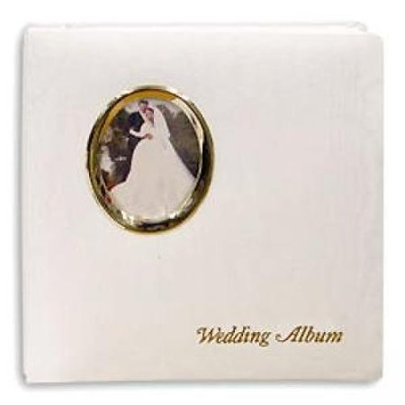 Golden Wedding Post-Bound pocket album for 5x7 8x10 prints w/scrapbook pages by Pioneer - 5x7