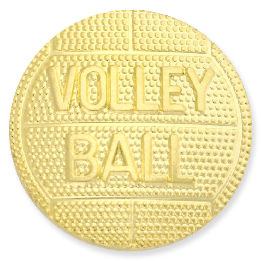 Volleyball Gold Chenille Lapel Pin