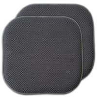 """Sweet Home Collection Memory Foam Honeycomb Non-Slip Back 16"""" x 16"""" Chair Cushion Pad 2 Pack"""