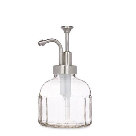 Rail19 Inkwell Glass Soap & Lotion Dispenser Brass Glass Soap Dispenser