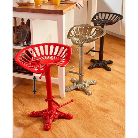 The Lakeside Collection Tractor Seat Stools - Pewter