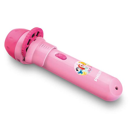 Philips Disney Princess Children Kids 2-in-1 Projector and LED Flash Light, Pink
