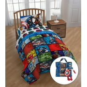 Avengers Multi Rush 5 piece Twin Bed Set with BONUS Tote and Mini Pillow Buddy
