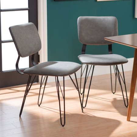 Manor Park Mid-Century Modern Flex Back Accent Dining Chair, set of 2 -