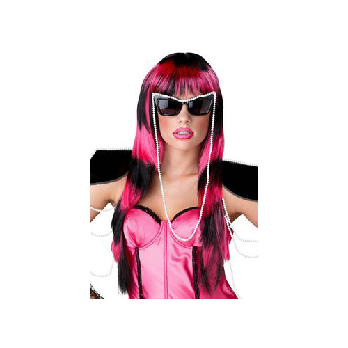 California Costume Collections Black & Pink Untamed Wig 70658CAL Black/Pink