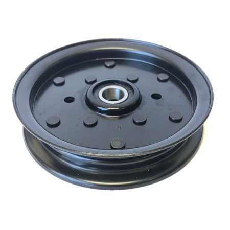 Heavy Duty Flat Idler Pulley Replaces Hustler Pulley Part Number 781856, John Deere Pulley TCA19779 TCA20092, Exmark Pulley 1-613098, Toro Pulley 1-613098