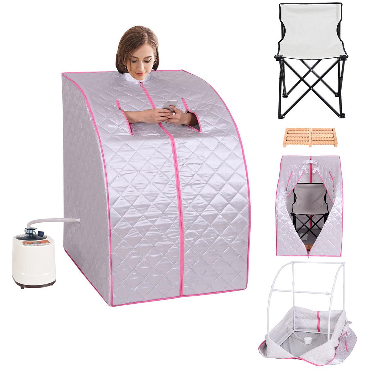 Portable 2L Steam Sauna Spa Full Body Detox Therapy w/Chair