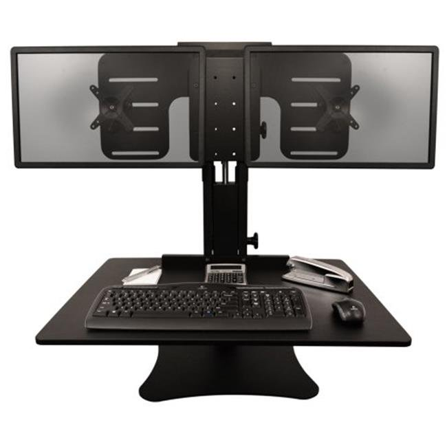 Victor Technologies DC350 High Rise Dual Monitor Sit-Stand Desk Converter, Black