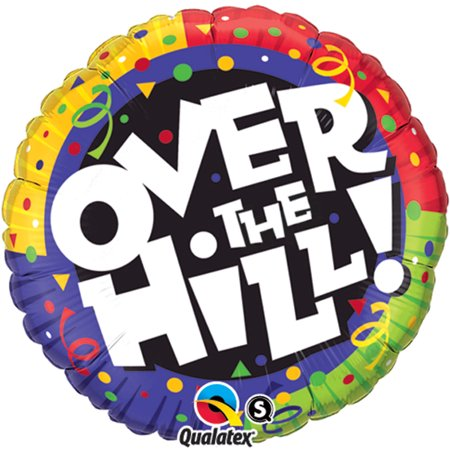 Over The Hill Balloons (Qualatex Over the Hill Adult Happy Birthday Round Supra 18