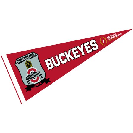 Ohio State Buckeyes 2014 College Football National Champs 12  X 30  Felt College Pennant