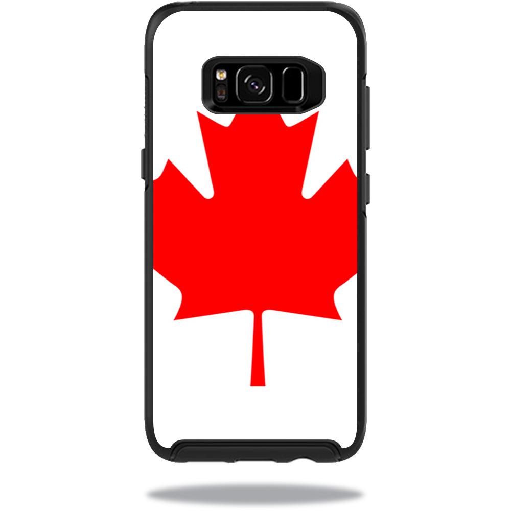 MightySkins Protective Vinyl Skin Decal for OtterBox Symmetry Samsung Galaxy S8 Case sticker wrap cover sticker skins Canadian Flag
