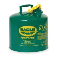 EAGLE UI50SG 5 gal. Green Galvanized steel Type I Safety Can for Oil