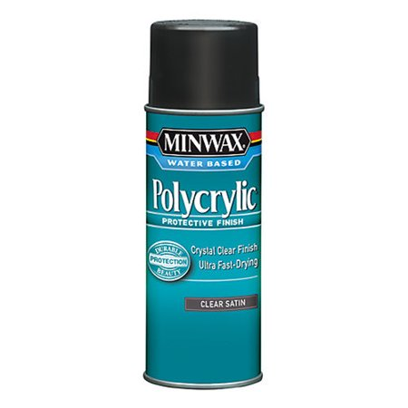 Minwax Polycrylic Clear Satin Aerosol 11.5-Oz